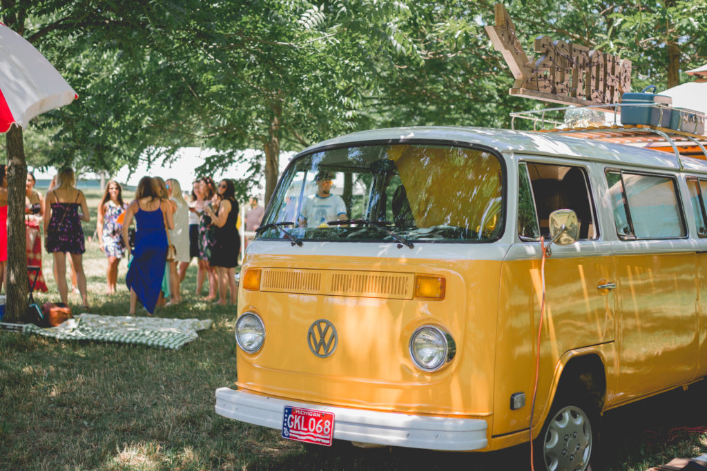 Volkswagen Bus | VW Photo booth bus | Southwest Michigan Event | Photo booth bus | west Michigan event | vintage | bohemian wedding | hippie style | 77 Kombi | air cooled | Michigan photographer | michigan events | barefoot wedding | outdoor wedding ideas | corporate event planner | michigan venue | west michigan event | grand rapids event | lakeshore wedding